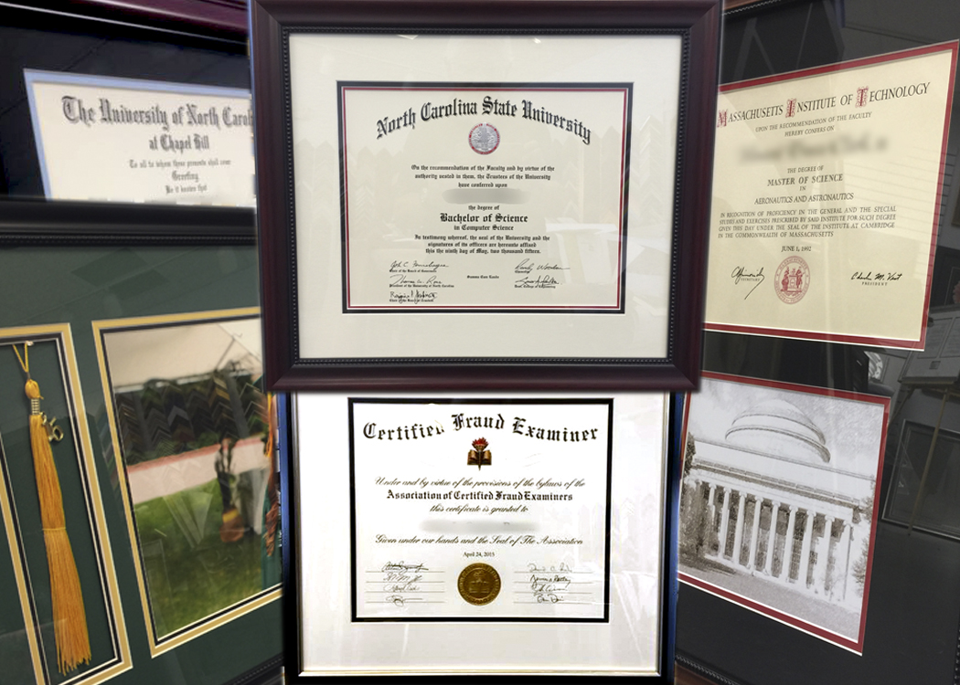 Diploma Framing - Framecrafters Fine Custom Framing, Photo and Art ...